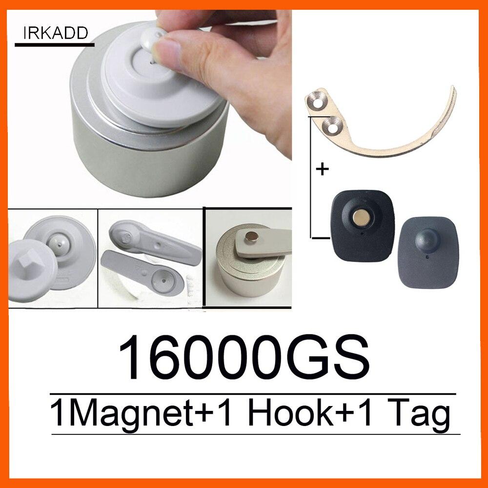 2018 Nouveau 16000GS universelle détacheur eas étiquette de sécurité remover1pcs + super étiquette de sécurité détacheur hook1pcs usine vente livraison gratuite