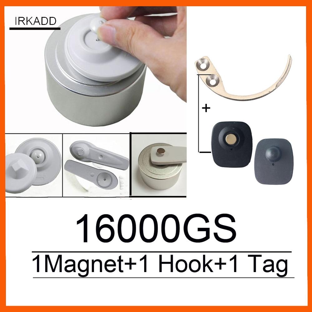 2018 Nuovo 16000GS universale separatore eas sicurezza tag remover1pcs + super tag di sicurezza separatore hook1pcs fabbrica di vendita di trasporto libero