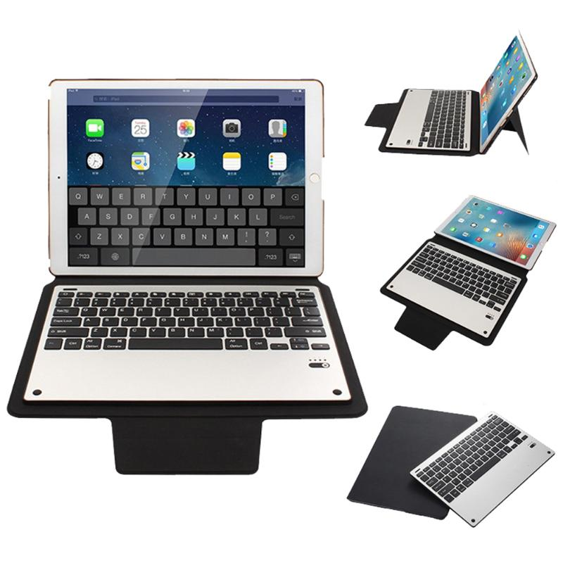 Business Tablet Stand Cover Detachable Aluminium Alloy Ultra-silm Bluetooth Keyboard with PU Leather Case For iPad Pro 12.9inch aluminium alloy headset stand holder