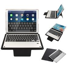Business Tablet Stand Cover Detachable Aluminium Alloy Ultra-silm Bluetooth Keyboard with PU Leather Case For iPad Pro 12.9inch