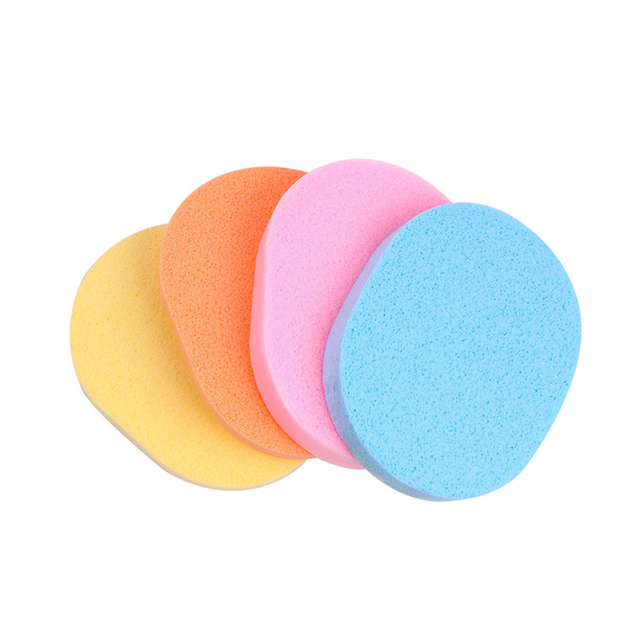 4pcs Oval Shape Facial Puff Face Wash Cleansing Sponge Soft Makeup Seaweed Sponge Skin Care Cleanser Tools 1