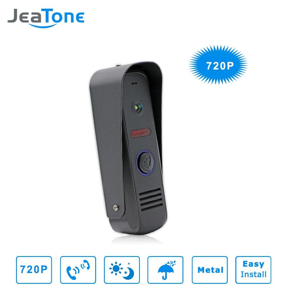 JeaTone видео дверной звонок ИК Камера 720 P Широкий формат Камера высокое Разрешение Камера IP65 Водонепроницаемый