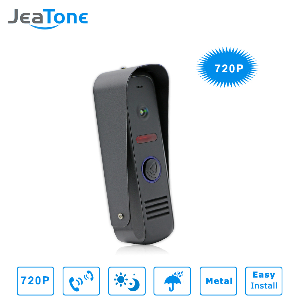 JeaTone Video Door Bell IR Camera 720P Wide Angle Camera High Resolution Camera IP65 Waterproof