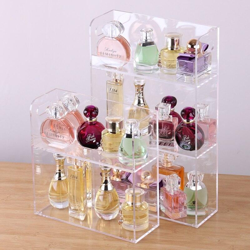 Grande capacité présentoir de parfum acrylique maquillage organisateur clair boîte de rangement de bureau 2 3 couche maquillage organisateur bijoux étagère-in Boîtes de rangement et bacs from Maison & Animalerie    1