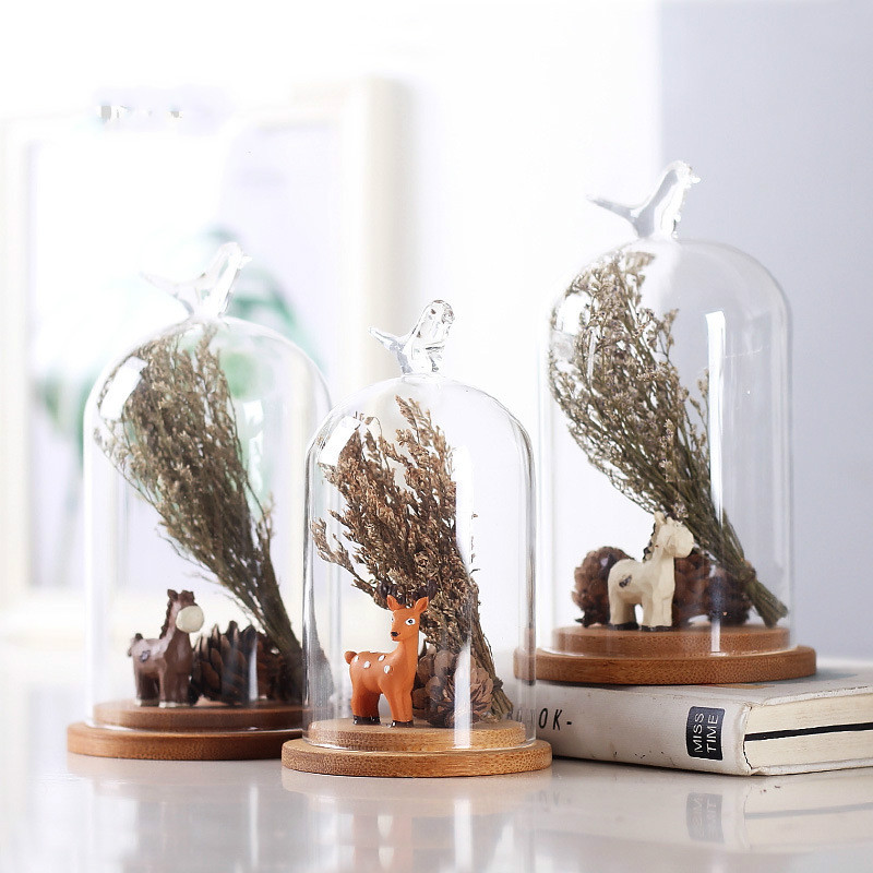 Diy glass cover handicraft furnishings home office decoration living room dining room