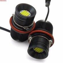 80W 6000K-6500K White 80W LED Angel Eyes Ring Marker Bulbs For BMW E39 E60 E63 E53 525 530 540 550 645 650 745 750 760 M5 X3 X5