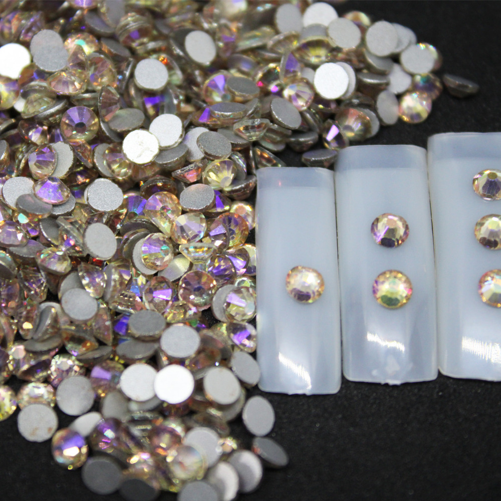 SS3 SS34 Night sky Rhinestones Back Flat Round Nail Art Decorations And Stones  Non Hotfix Rhinestones Crystals for DIY Glass-in Rhinestones   Decorations  ... a248135c542b