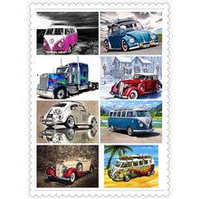 5D DIY Diamond painting Cross stitch VW car set Full Square Diamond embroidery Ancient bus Full Round Diamond mosaic color autos