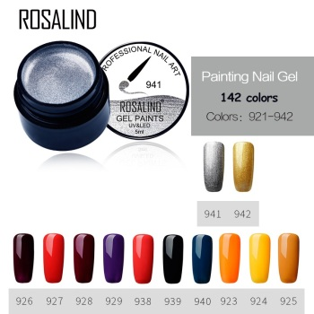 Rosalind 5ML 22 Colors Nude Gel Nail Varnish UV LED Nail Gel Polish Nail Art Semi Permanent Polish Nails Makeup Manicure Beauty