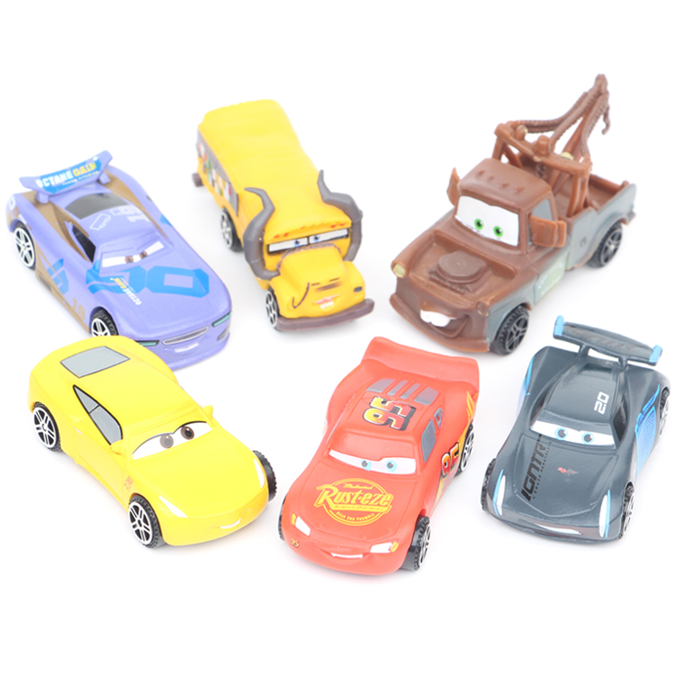 6pcs /lot Disney Pixar Cars3 Toys For Kids LIGHTNING McQUEEN Plastic Cars Toys Metal Toy Car Model Children Christmas Gifts