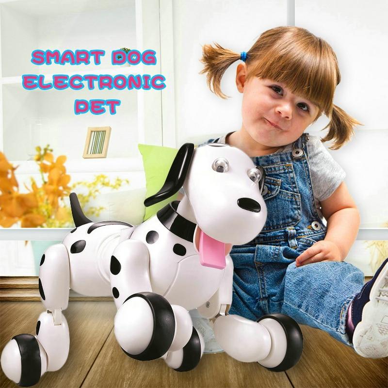 Cadeau d'anniversaire RC chien de marche 2.4G télécommande sans fil chien intelligent électronique Pet éducatif jouet pour enfants Robot chien