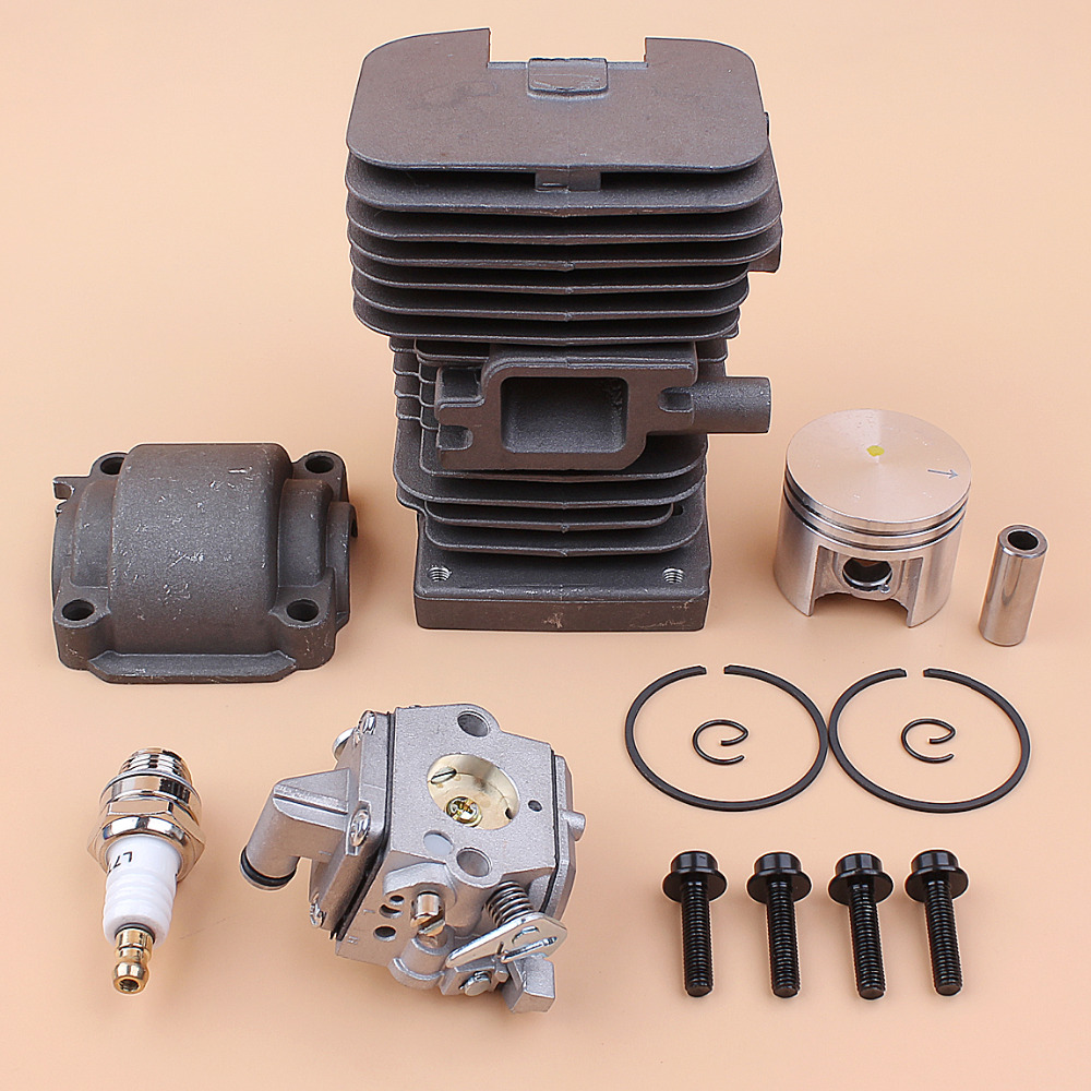 Engine Cylinder Head Piston Pan Carburetor Set Fit STIHL 018 MS180 MS 180 Gasoline Chain Saws Replace 11300201208 11301200603 бензопила stihl ms 180 c be 14