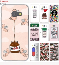Lavaza funny Chills Pills Chocolate Nutella Hard Case for Galaxy A3 A5 2017 Grand Prime A6 A8 Plus A9 2018 Note 8 9 Cover
