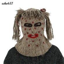 Новая Мода Унисекс Шапки Echo657 Мотыгой Продажи Моды Ручной Вязки Шляпы Смешно Личность Теплую Шапку 23 Декабря