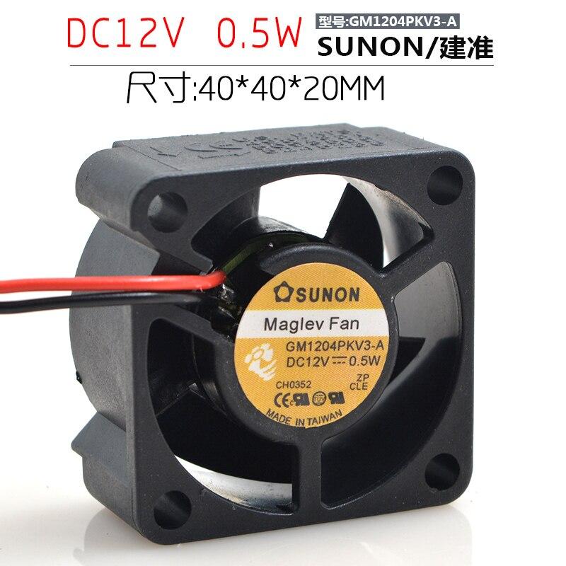 Original Sunon GM1204PKV3-A DC 12V 0.6W 3Wire server inverter axial Cooling Fans