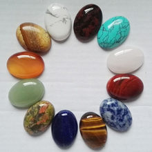 CABOCHON de cabine ovale en forme de goutte d'eau, mélange de perles en pierre naturelle, 25mm x 18mm, vente en gros, en forme d'oeil de tigre, 12 pièces/lot, livraison gratuite