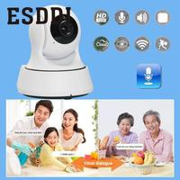 New EU Plug Wifi 1MP HD Home Baby Security Monitor Video Audio Camera DVR Professional Safe