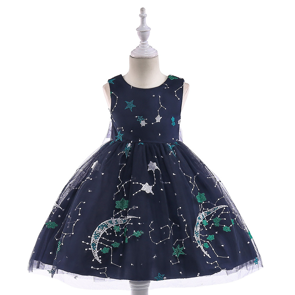 Black Little   Girl     Dresses   With Big Bow 2019 Hot Selling High Low Knee Length Cheap   Flower     Girl     Dress