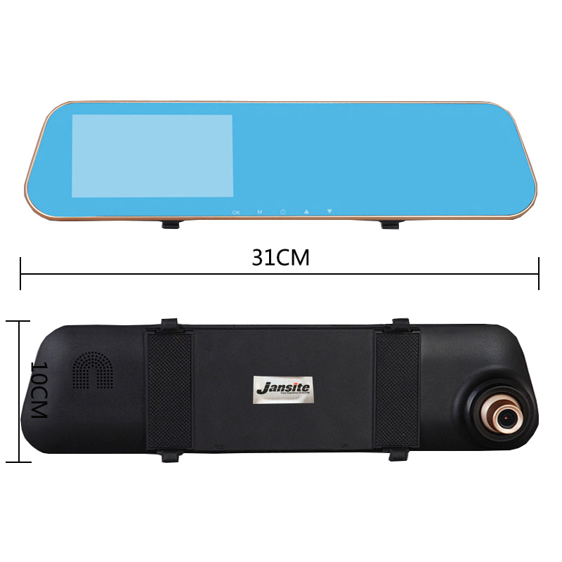 Jansite 1080P Car Dvr Blue Review Mirror Dual Lens Car Camera two cameras Loop record Recorder Auto Registrator Camcorder 31