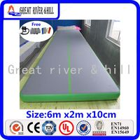 Floding надувные sealed air гимнастика коврик для тренировок спортивные бесплатная насос (серо зеленый)