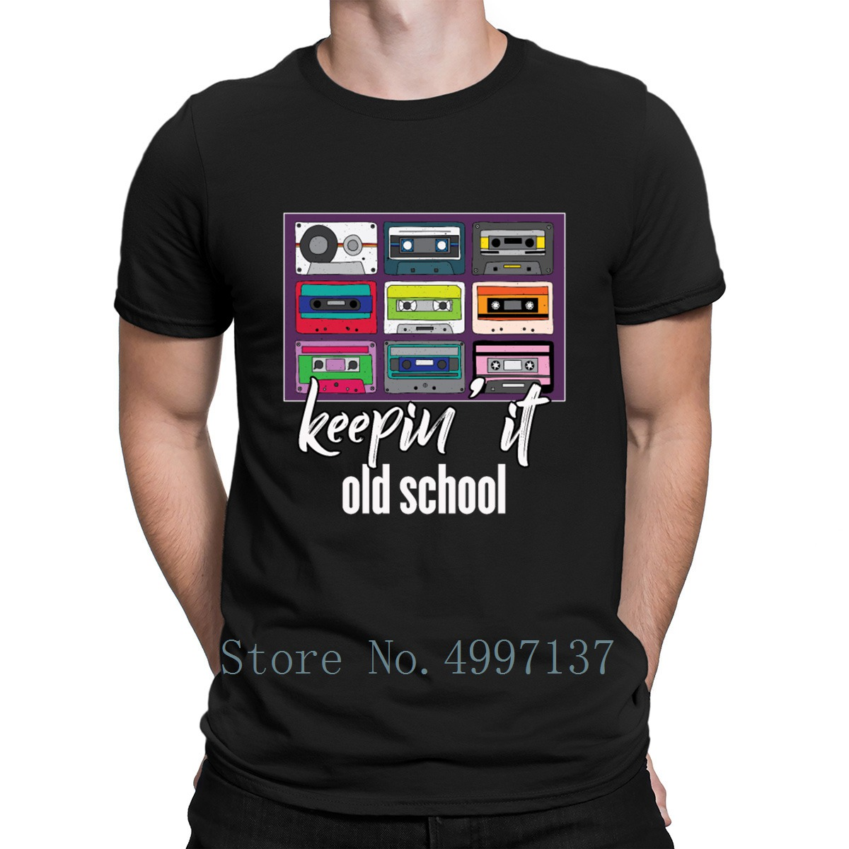 Cassette Tapes Mixtape Vintage 80s 90s Retro Music T Shirt Breathable Character Euro Size S-3xl Summer 100% Cotton Shirt image