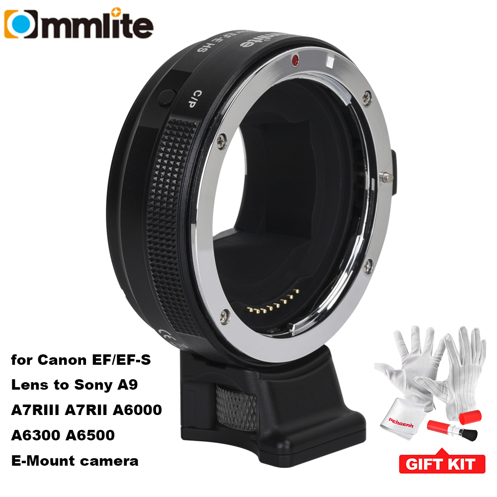 Commlite EF E Lens Mount Adapter Ring Auto Focus Aperture Exposure Anti shake for Canon EF/EF S Lens for Sony A9 A7RIII A6500|Lens Adapter| |  - title=