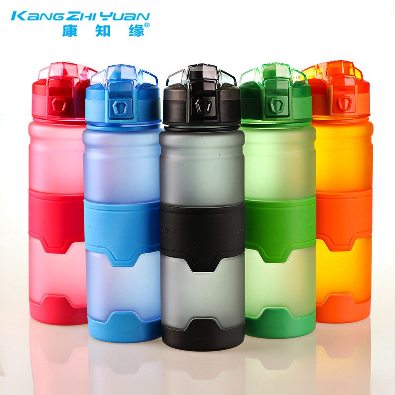 380/500ML Colors BPA Free Water Bottle Plastic Sports Water Bottle Bike Outdoor Drink Shaker Portable Eco-Friendly Bottles Gift
