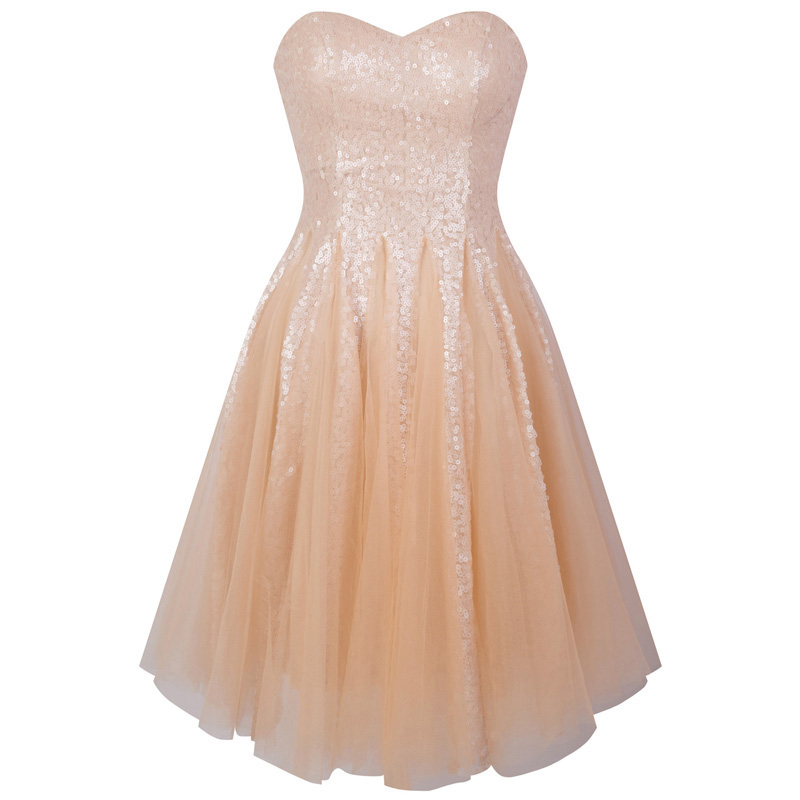 Angel-fashions Short Homecoming Dresses Sweetheart Sequin Illusion Ball Gown Ligth Coral vestido de fiesta de boda 370