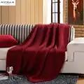XYZLS зимнее вязаное одеяло ручной работы, пледы для зимней кровати, дивана, самолета, толстое вязаное одеяло, красное вино, покрывало для дива...