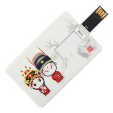 1 Pic Free Customize Logo Credit Card Usb Flash Drive 128MB 1GB 4GB 8GB 16GB Pen Drive Memory Stick Print Photo For Team As Gift