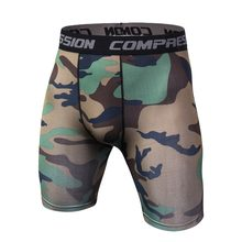 Camouflage Tight Compression workout Short Pants Comfortable Quick Drying military Shorts Male Casual men shorts breathable tops(China)