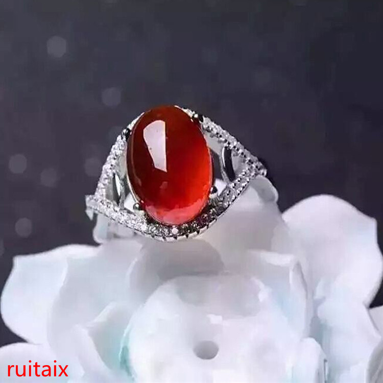 KJJEAXCMY fine jewelry 925 Silver inlaid with natural gem pomegranate stone womens wear ring silver jewelry girl.KJJEAXCMY fine jewelry 925 Silver inlaid with natural gem pomegranate stone womens wear ring silver jewelry girl.