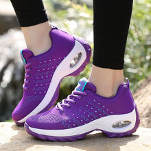 2019 New Breathable Mesh Wedge Sneakers Women Platform Shoes Basket Femme Chaussures Femmes Height Increase