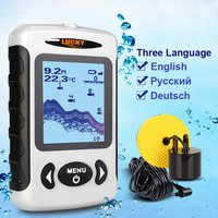 Top Brand LUCKY Portable Wired Fish Finder Wired Sonar Depth Sounder Alarm Ocean River Lake Intelligent