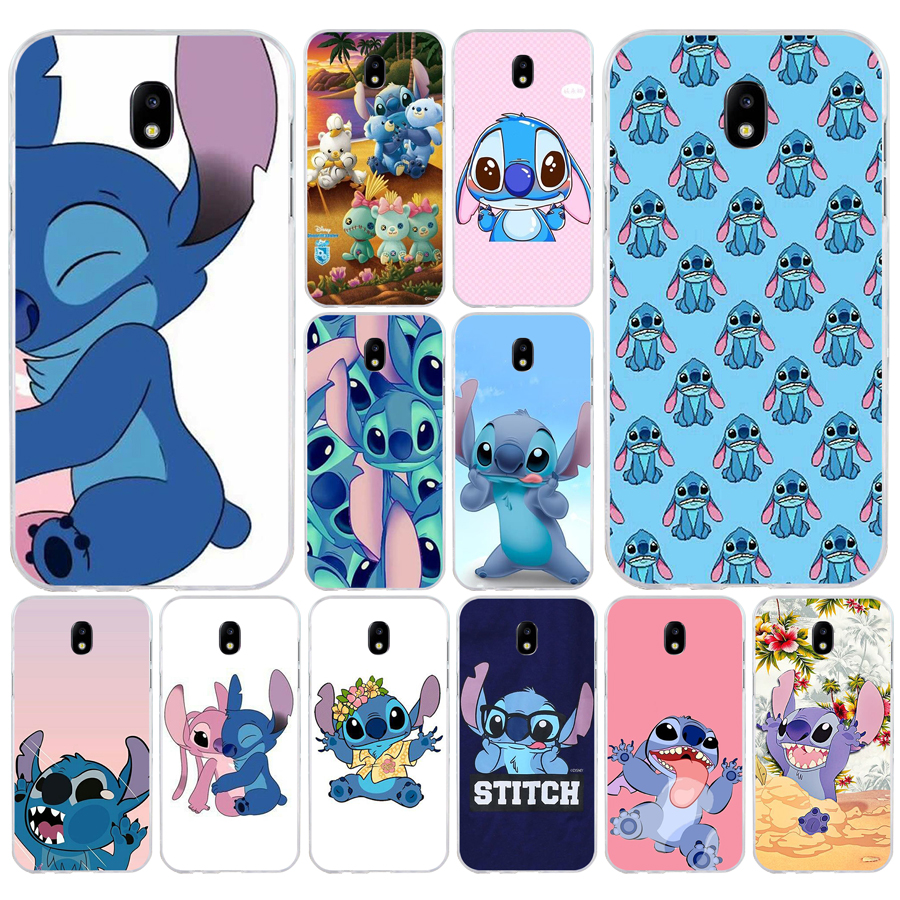 152H Stitch Funny Cute Cartoon Soft Silicone Tpu Cover <font><b>phone</b></font> <font><b>Case</b></font> for <font><b>Samsung</b></font> j3 <font><b>j5</b></font> j7 <font><b>2016</b></font> 2017 a3 <font><b>2016</b></font> a5 2017 a6 2018 image