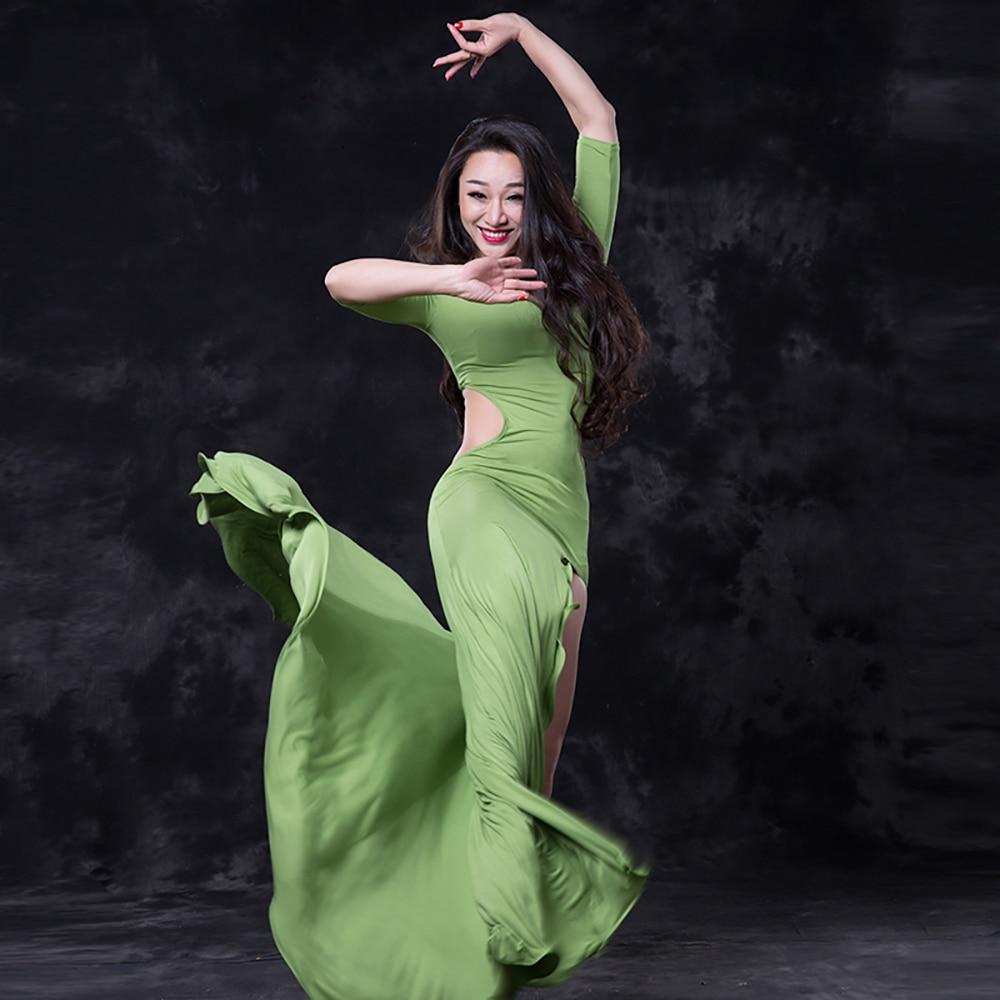 2019 Сексуальное Женское Платье для танца живота 2 шт (платье и леггинсы) платья с бахромой Женская Профессиональная Самба вальс длинная юбка