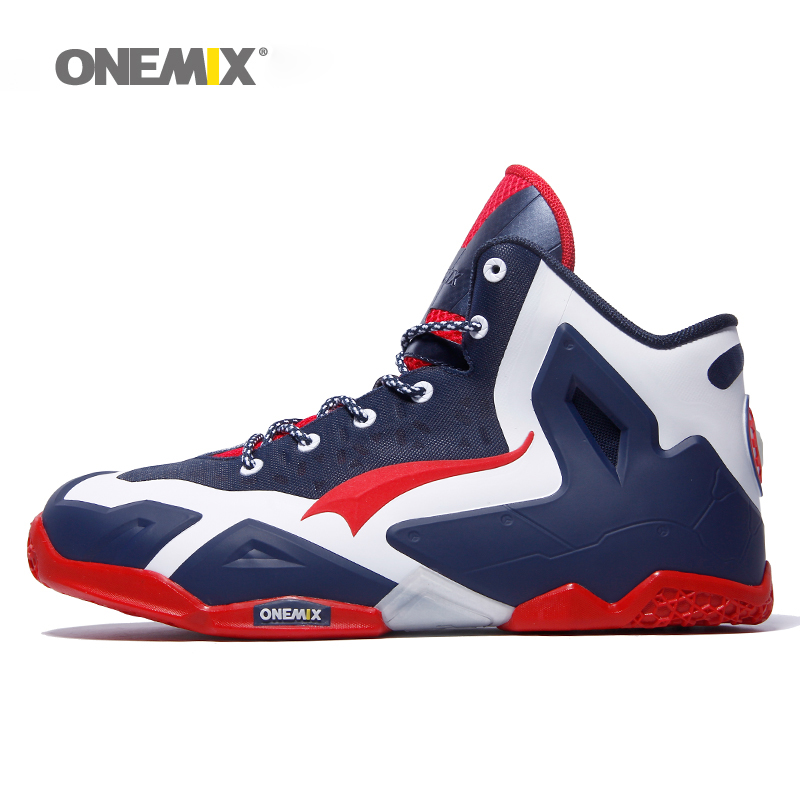 Onemix basketball shoes for men top quality athletic sports sneakers anti-slip basketball boots for outdoor plus size US7-US12 new men s basketball shoes breathable height increasing wear resisting sneakers athletic shoes high quality sports shoes bs0321
