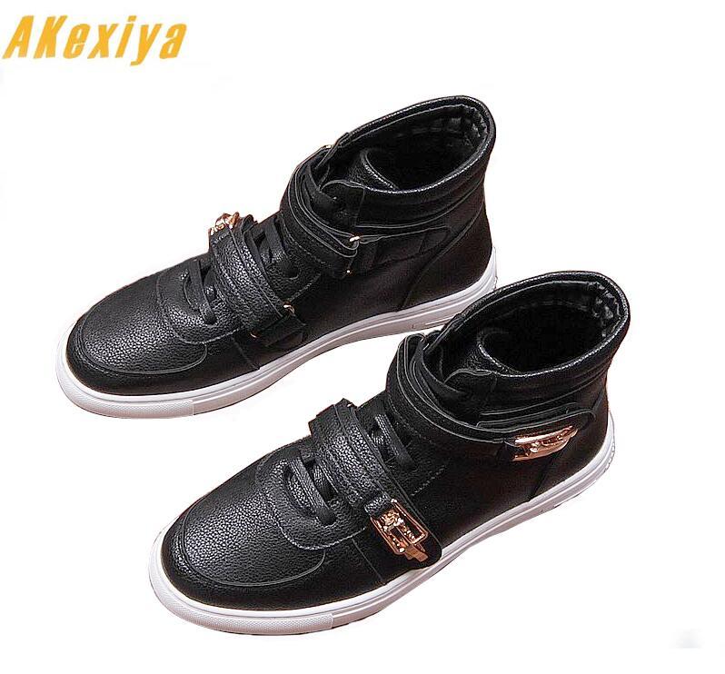 Causalité Top Britannique Luxe Qualité Hip Ceinture Double Noir 1 2 Rouge Blanc Hommes Pour Chaussures Hop Mode Style High PP17rW