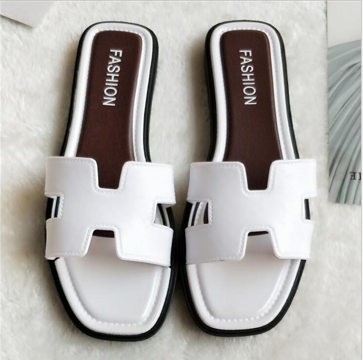 2019 Frauen Neue Mode Hausschuhe Sommer Weiche Sandalen H Form Rutschen Outdoor Flip-flops Fabrik Großhandel Harmonische Farben
