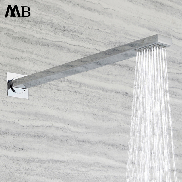 Brass Shower Heads Arms Rainfall Showerhead Bathroom Accessories 400mm Showers Chrome Wall Mounted Rain Massage Over-heads