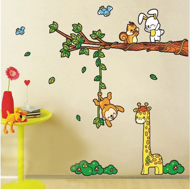 Animal Tree Cartoon Renovator Cute Children Bedroom