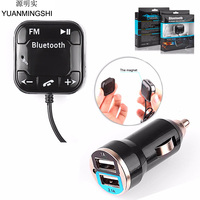 YUANMINGSHI Auto Car Styling Araç Kiti Kablosuz Bluetooth FM Verici MP3 Çalar USB SD LCD Uzaktan Handsfree