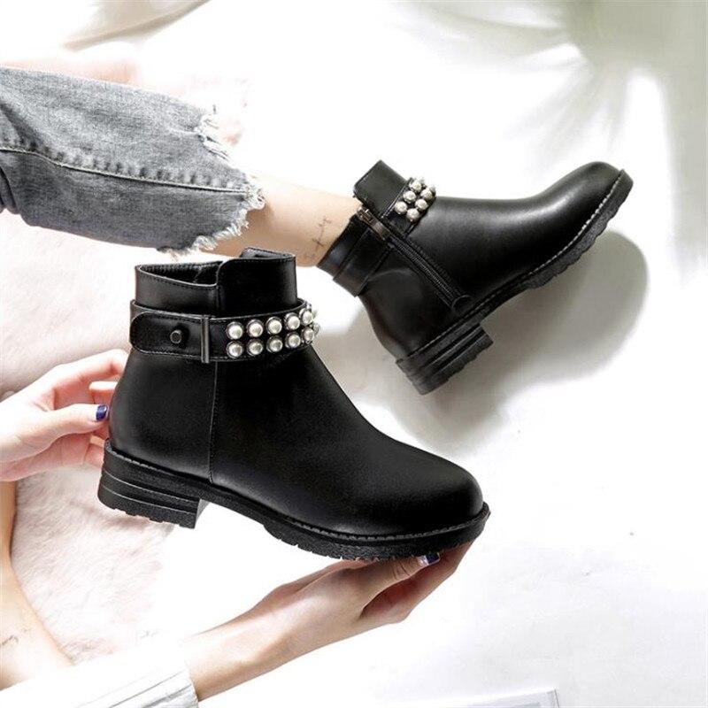 2018 Высокое качество Женщины прилив зимние ботинки из 100% натуральной кожи модные толстые теплые коровьей Большие размеры 35–45 женские ботин...