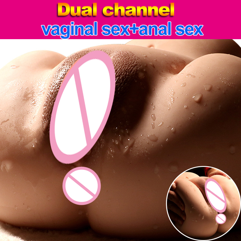 Hieha 3D Silicone Real Artificial Vagina <font><b>and</b></font> Anal 1:1 Big <font><b>Ass</b></font> <font><b>Sex</b></font> Doll <font><b>Pussy</b></font> Pocket Male Masturbator Adult Sexy <font><b>Sex</b></font> <font><b>Toys</b></font> for Man image