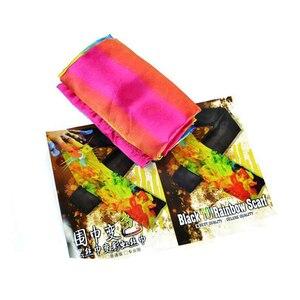Image 5 - 変更色スカーフ手品ブラックレインボーシルクstreame手品magia小道具おかしいクローズアップステージマギーおもちゃ