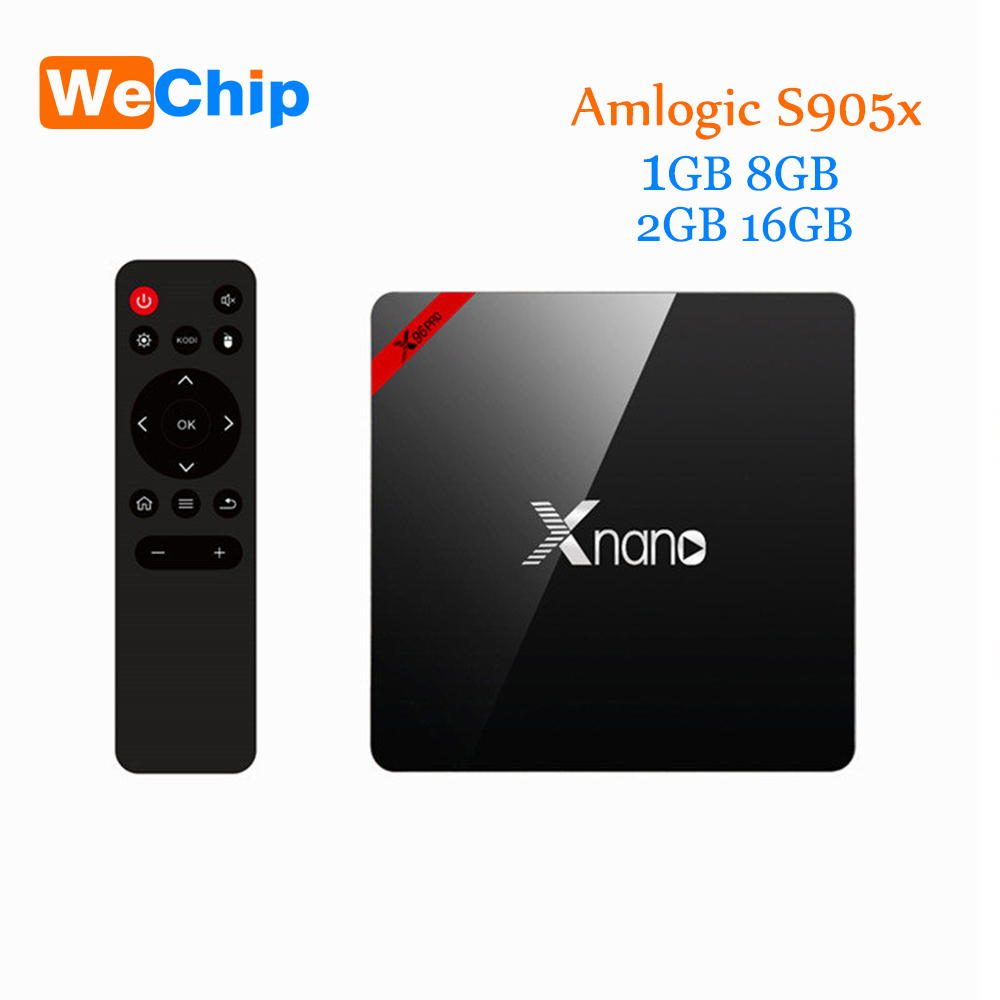 Wechip X96 Pro Android TV Box Amlogic S905x Quad ARM Cortex A53 2GHz KODI 17.3 Android 7.1 Set Box 1G+8G/2+16GMedia Player latest amlogic s905 quad core 64 bit arm cortex a53 android 5 1 mx 64 tv box support kodi pre installed