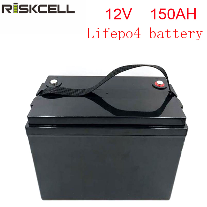 No taxes rechargeable <font><b>12V</b></font> <font><b>150Ah</b></font> lithium Iron Phosphate battery pack <font><b>LiFePO4</b></font> Battery ABS Case solar energy storage image