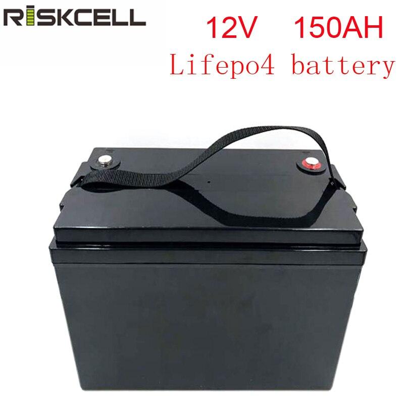 Sem impostos LiFePO4 12V 150Ah bateria de Fosfato de Ferro De lítio recarregável Caso do ABS Da Bateria de armazenamento de energia solar
