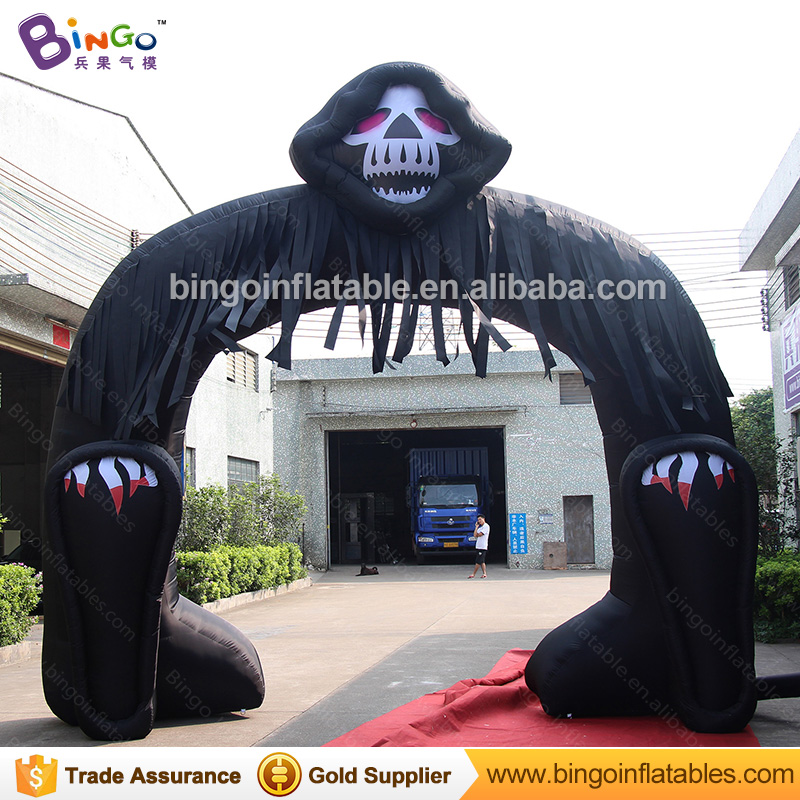 free shipping halloween decorations 5x5 meters inflatable halloween grim reaper arch for party toys