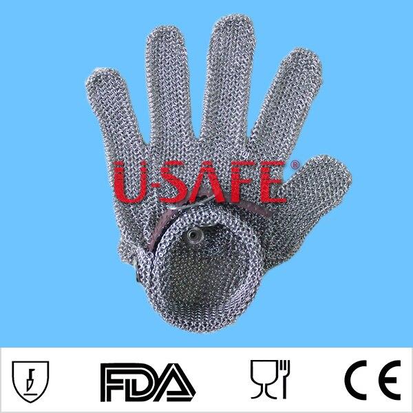 Whitting davis из нержавеющей стали, металлическая сетка, стальная цепь, перчатки для резки мяса, перчатки glvoe EN388 - 4